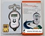 Digitaalne kalamehe kaal sisseehitatud termomeetriga