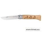 Taskunuga Opinel N°08 Stainless Steel Oak Animal HIRV