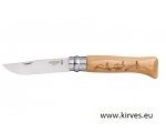 Taskunuga Opinel N°08 Stainless Steel Oak Animal JÄNES