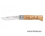 Taskunuga Opinel N°08 Stainless Steel Oak Animal KALJUKITS