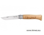Taskunuga Opinel N°08 Stainless Steel Oak Animal METSSIGA