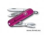 Victorinox Classic  taskunuga roosa läbipaistev