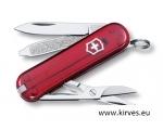 Victorinox Classic SD taskunuga punane läbipaistev