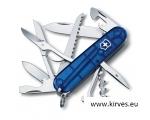 Victorinox Huntsman taskunuga jahimehele sinine läbipaistev
