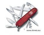 Victorinox Huntsman taskunuga jahimehele punane läbipaistev